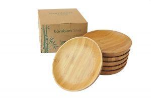 Чинийки, бамбук, комплект 6 бр. // 11х1,6 см /BAM 36/