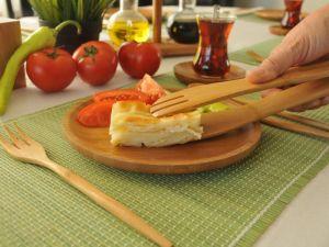 Щипка за сервиране, бамбук // 30 см /BAM 99/