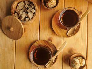 Лъжички за чай и кафе, бамбук, 6 бр. // 12 см /BAM 81/