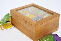 Кутия за чай, бамбук, 6 деления // 16х21х9 см /BAM 174/