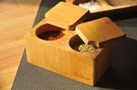 Кутия за подправки, бамбук, 2 деления // 24х7х7 см /BAM 281/