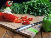 Кухненска дъска с точило за нож, бамбук // 33x25x1,5 cm /BAM 2/