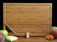 Кухненска дъска със стойка, бамбук // 38х26х1,9 см /BAM 15/