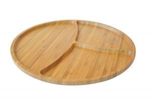 Плато, бамбук, 3 разделения // 28х28х1,9 см /BAM 209/